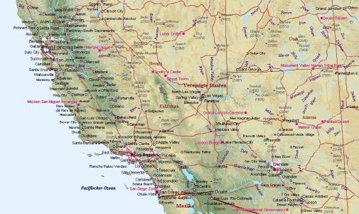 Kalifornien Karte ile ilgili görsel sonucu Kalifornien Karte